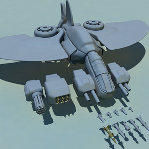 futuristic gunship scn free