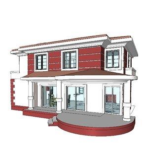 revit building project 3d model
