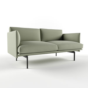 muuto outline sofa 3D model