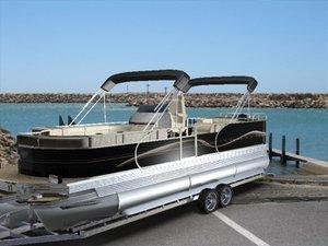 3d model pontoon boat water