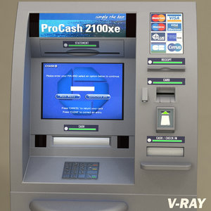 teller machine atm pc2100 3d model