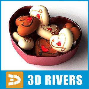 3d x saint valentine hearts candies