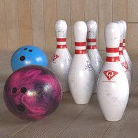3D model pbr settings bowling pin