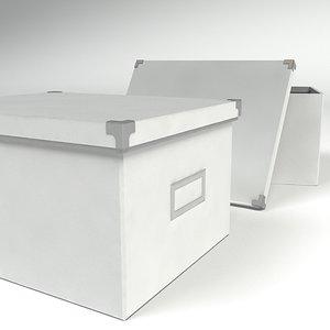 3d model piece furniture boxe