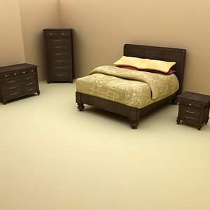 3ds max klaussner bed bedroom furniture