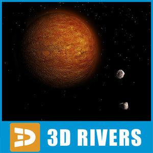 mars planets 3d model