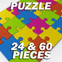 puzzle 60 24 pieces 3d model