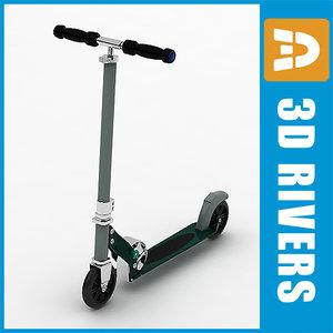 3d scooter supermarket kick