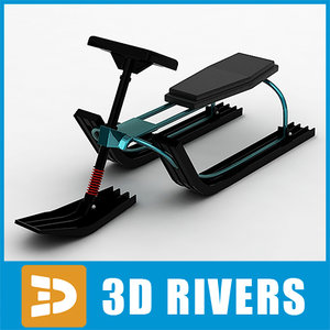 3d model kids snowmobile