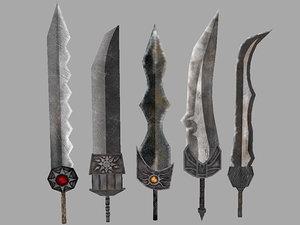 ultimate fantasy weapon pack 3d model