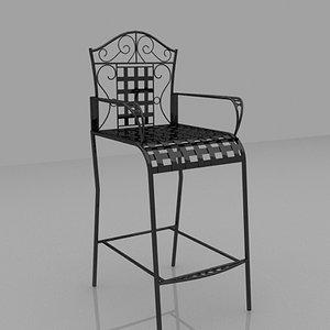 3d bistro chair coffee furniture