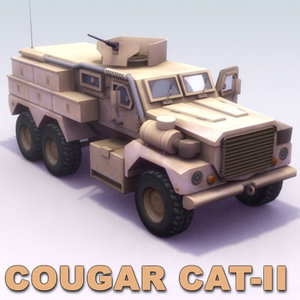 cougar 6x6 jerrv truck 3d model