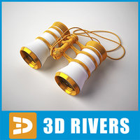 3d retro theater binocular chain model