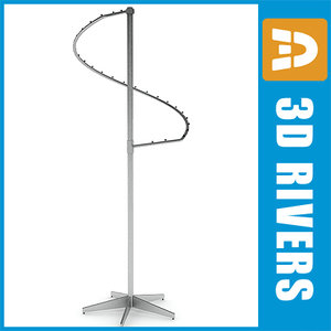clothes display rack 3ds