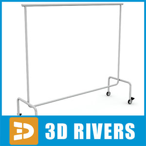 clothes display rack 3d model