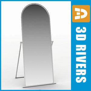 free floor mirror clothes shops interior 3d model