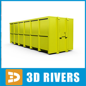 3dsmax container transport ship