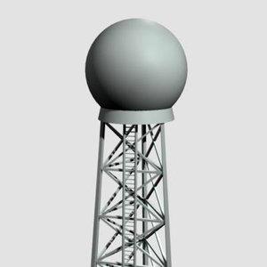 3d doppler tower model
