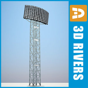 field light polygonal 3d model