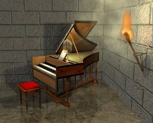 3d 17th harpsichord