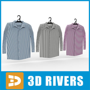 men shirts set 3d max