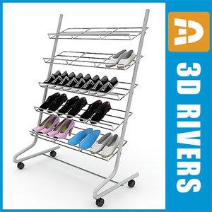 chrome shoe rack 3ds