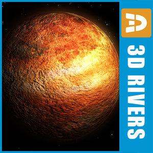 3d venus planets