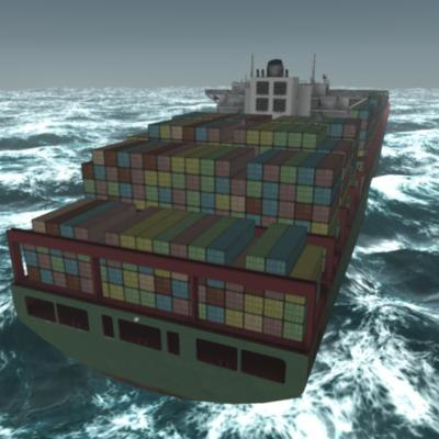 xin los angeles ship 3d model