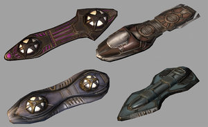 3d hoverboards sci-fi