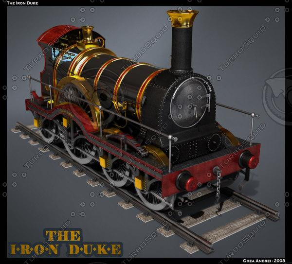 3d model of iron duke locomotive
