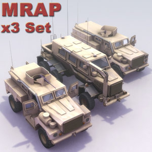 cougar mrap sets 3d model