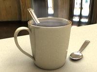 free mug spoon 3d model