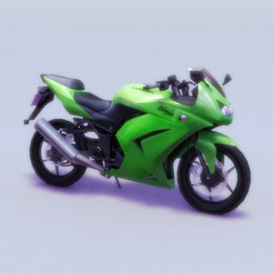 kawasaki ninja 250r motorcycle 3d model