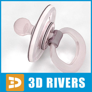 baby pacifier 3d max