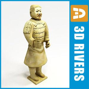 statue standing terracotta di 3ds