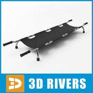 medical stretcher 3d model