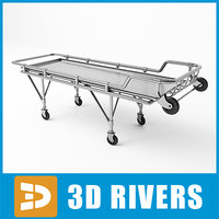 3d model stretcher medical