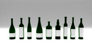 3D bottles set modeled