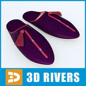 3d babushi traditional leather model