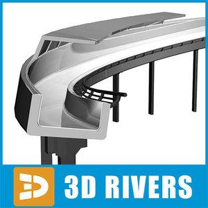 bobsleigh track 3d model