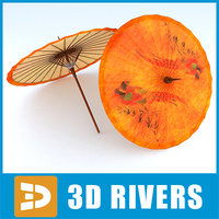 chinese umbrella 3d 3ds