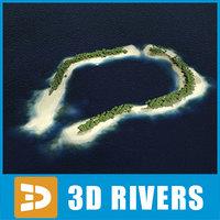 3d max exotic island atoll equatorial