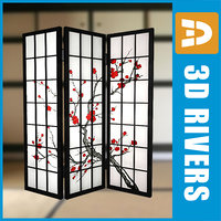 3ds max japanese folding screen