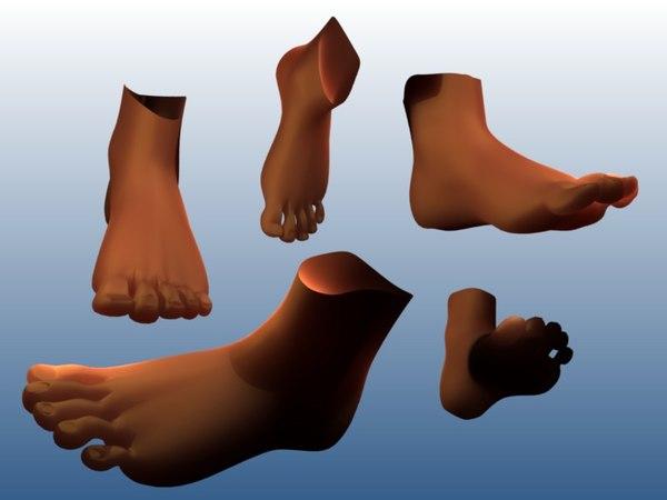 free blend model male foot