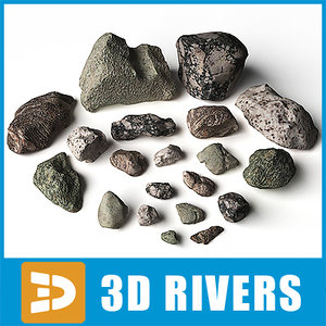 sharp fragments rock stones 3d 3ds