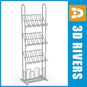 display shelf magazines 3d model