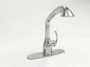 faucet moen neva 3d model