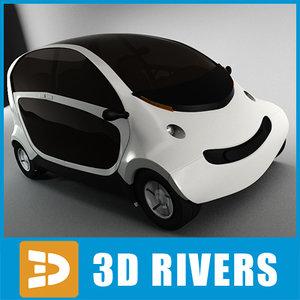 3d 3ds futuristic car peapod