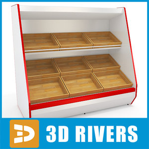 3d inclined shelving model
