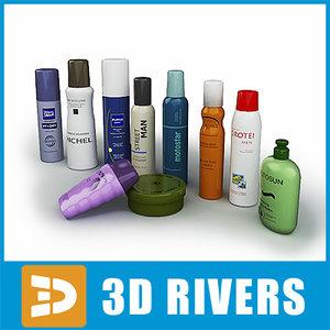 3ds max hair set soap shampoo